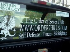 The truck decal in my rear window.