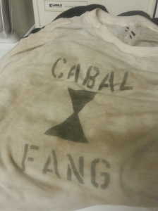 This is what my t-shirt looked like after martial arts practice on Tuesday.