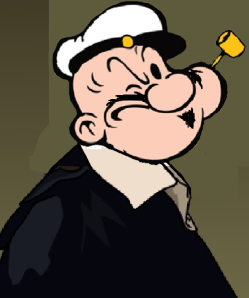 """Noted philosopher Popeye Descartes, famous for his statement, """"I think therefore I yam what I yam."""""""