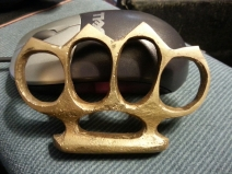 My brass knuckles (these are a replica of ones used by British Special Forces to smash Nazis in World War II).