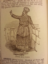 An illustration of a Jewish High Priest from Smith's Bible Dictionary. Looks like he's using one finger.