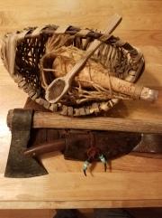 tomahawk knife spoon gourd basket