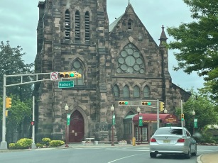 Beautiful church in Newark on the way to Vinny's